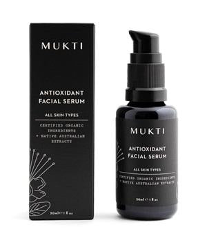Australian Certified Organic Skincare. Shop Mukti Antioxidant Facial Serum 30ml at One Fine Secret, Natural & Organic Skincare Makeup Clean Beauty Store Melbourne Australia
