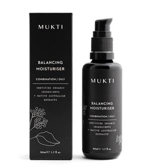 Australian Certified Organic Skincare. Shop Mukti Balancing Moisturiser 50ml at One Fine Secret, Natural & Organic Skincare Makeup Clean Beauty Store Melbourne Australia