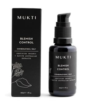 Australian Certified Organic Skincare. Shop Mukti Blemish Control 30ml at One Fine Secret, Natural & Organic Skincare Makeup Clean Beauty Store Melbourne Australia