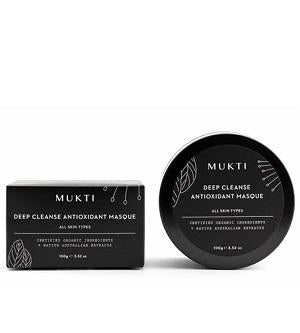 Australian Certified Organic Skincare. Shop Mukti Deep Cleanse Antioxidant Masque at One Fine Secret, Natural & Organic Skincare Makeup Clean Beauty Store Melbourne Australia