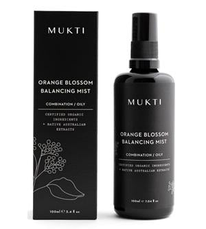 Australian Certified Organic Skincare. Shop Mukti Orange Blossom Balancing Mist 100ml at One Fine Secret, Natural & Organic Skincare Makeup Clean Beauty Store Melbourne Australia