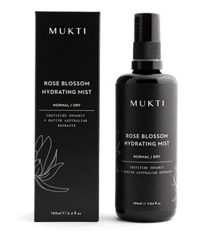 Australian Certified Organic Skincare. Shop Mukti Rose Blossom Hydrating Mist 100ml at One Fine Secret, Natural & Organic Skincare Makeup Clean Beauty Store Melbourne Australia
