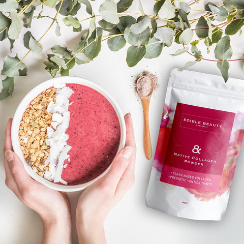 Edible Beauty Inner Beauty Buy Edible Beauty & Native Plant-based Collagen Powder 85g at One Fine Secret. Official Stockist in Melbourne, Australia.