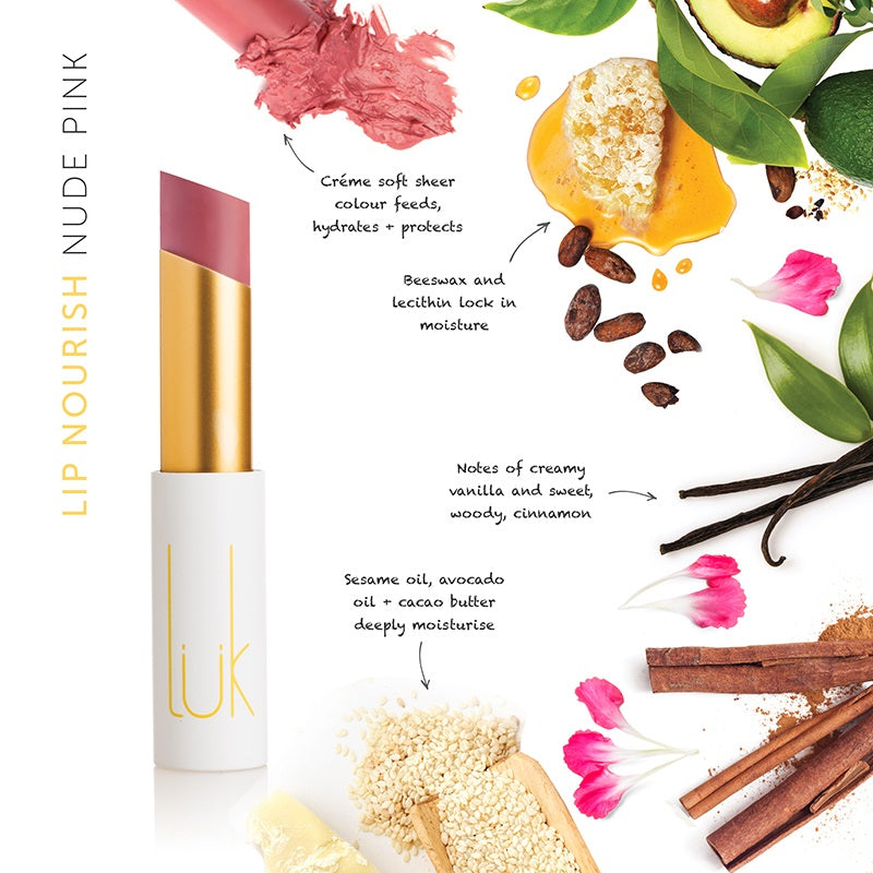 Buy Luk Beautifood Lip Nourish Lipstick in Nude Pink colour at One Fine Secret. Luk Beautifood Official Australia Stockist in Melbourne.