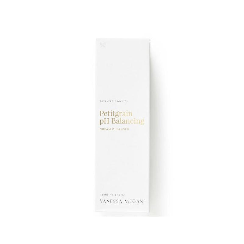 100% Natural Australian Skincare. Buy Vanessa Megan Petitgrain pH Balancing Cream Cleanser 180ml at One Fine Secret. Natural & Organic Skincare Store in Melbourne, Australia.