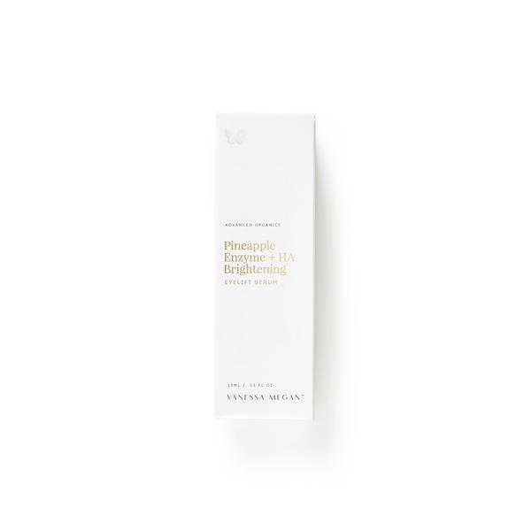 100% Natural Australian Skincare. Buy Vanessa Megan Pineapple Enzyme + HA Brightening Eyelift Serum 15ml at One Fine Secret. Natural & Organic Skincare Store in Melbourne, Australia.