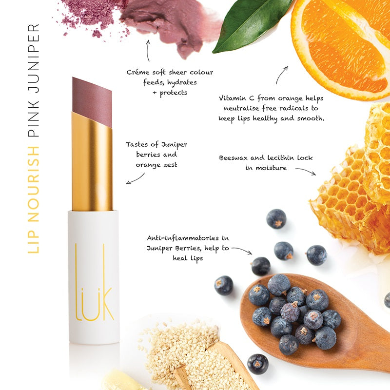Buy Luk Beautifood Lip Nourish Lipstick in Pink Juniper colour at One Fine Secret. Luk Beautifood Official Australia Stockist in Melbourne.