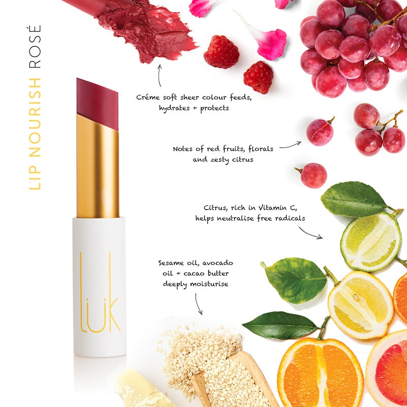 Buy Luk Beautifood Lip Nourish Lipstick in Rose colour at One Fine Secret. Luk Beautifood Official Australia Stockist in Melbourne.