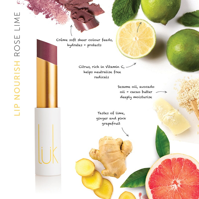 Buy Luk Beautifood Lip Nourish Lipstick in Rose Lime colour at One Fine Secret. Luk Beautifood Official Australia Stockist in Melbourne.