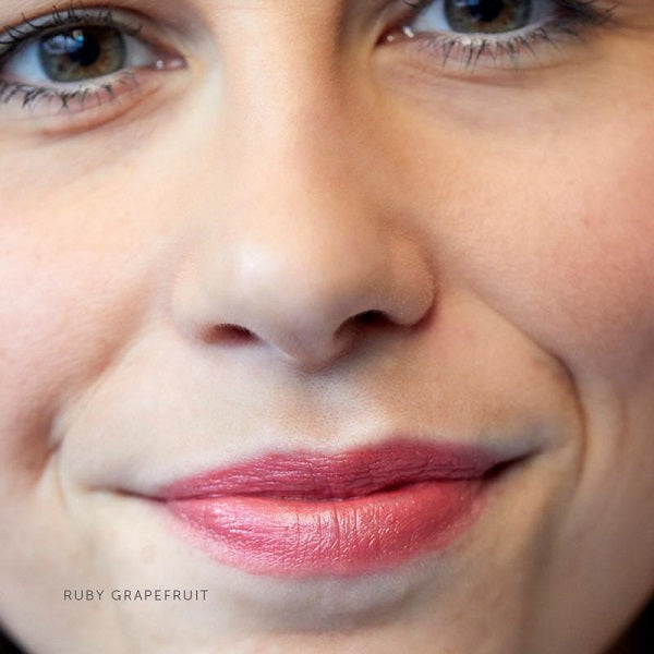 After applying Luk Beautifood Lip Nourish Ruby Grapefruit colour on lips. Luk Beautifood Colour Swatch at One Fine Secret