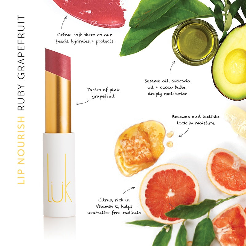 Buy Luk Beautifood Lip Nourish Lipstick in Ruby Grapefruit colour at One Fine Secret. Luk Beautifood Official Australia Stockist in Melbourne.