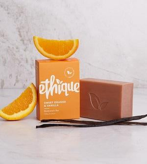 Buy Ethique Sweet Orange & Vanilla Bodywash Bar at One Fine Secret. Ethique solid beauty bar retail store in Melbourne, Australia.