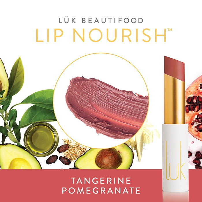 Buy Luk Beautifood Lip Nourish Lipstick in Tangerine Pomegranate colour at One Fine Secret. Luk Beautifood Official Australia Stockist in Melbourne.