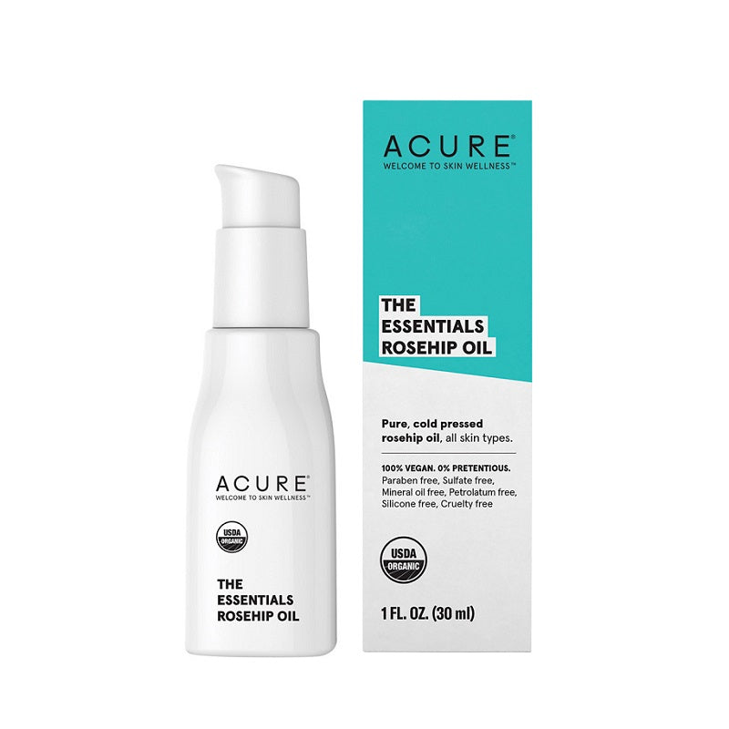 Natural & Organic Face Oil. Acure The Essentials Rosehip Oil 30ml - One Fine Secret