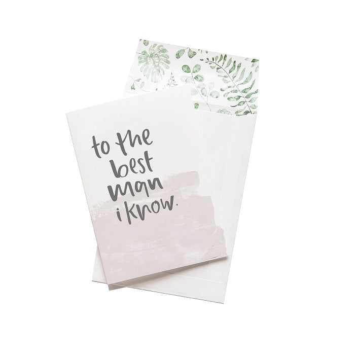 Emma Kate Co. Greeting Card - To The Best Man I Know. Clean Beauty Store One Fine Secret