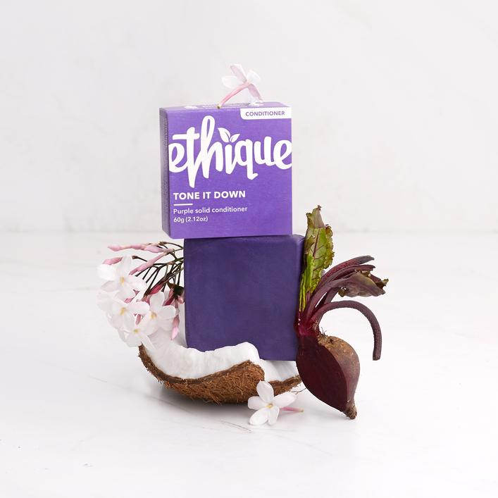 Buy Ethique Tone It Down - Purple Solid Conditioner Bar For Blonde & Silver Hair 60g at One Fine Secret. Ethique Official Stockist in Melbourne, Australia.