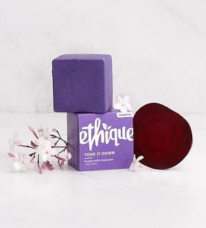 Buy Ethique Tone It Down - Purple Solid Shampoo Bar For Blonde & Silver Hair 110g at One Fine Secret. Ethique's Official Stockist in Melbourne, Australia.