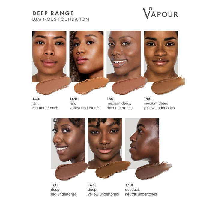 Vapour Beauty Luminous Foundation Stick Deep Dark Colour Shade Chart. Official Australian Stockist One Fine Secret Melbourne