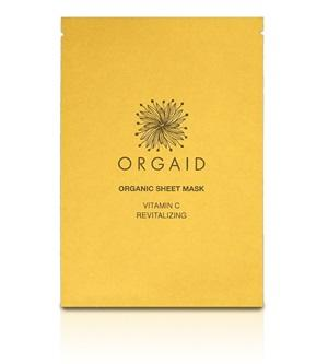 Innovative Organic Sheet Mask (Ecoderma) made in the USA. Orgaid Vitamin C & Revitalizing Organic Sheet Mask - One Fine Secret