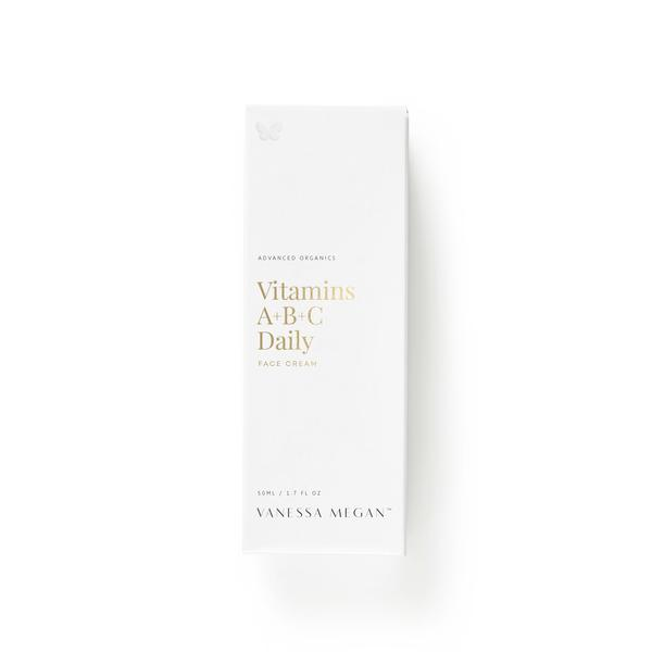 100% Natural Australian Skincare. Buy Vanessa Megan Vitamin A+B+C Daily Face Cream 50ml at One Fine Secret. Natural & Organic Skincare Store in Melbourne, Australia.