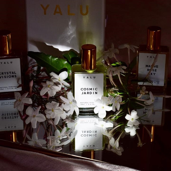 Handcrafted Natural Perfume. Buy Yalu Cosmic Jardin at One Fine Secret. Yalu Natural Perfume Official Stockist in Melbourne, Australia.