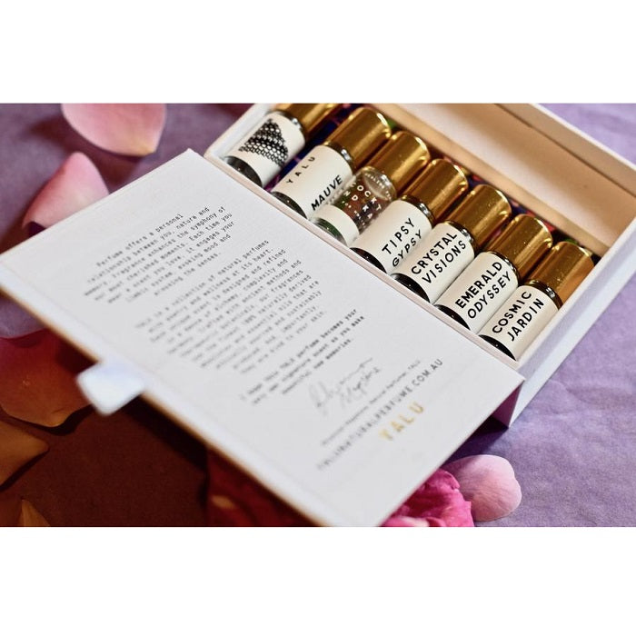 Handcrafted Natural Perfume. Buy Yalu The Discovery Kit at One Fine Secret. Yalu Natural Perfume Official Stockist in Melbourne, Australia.