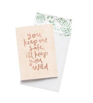 Emma Kate Co. Greeting Card - You Keep Me Safe. Clean Beauty Store One Fine Secret