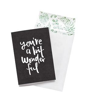 Emma Kate Co. Greeting Card - You're A Bit Wonderful. Clean Beauty Store One Fine Secret