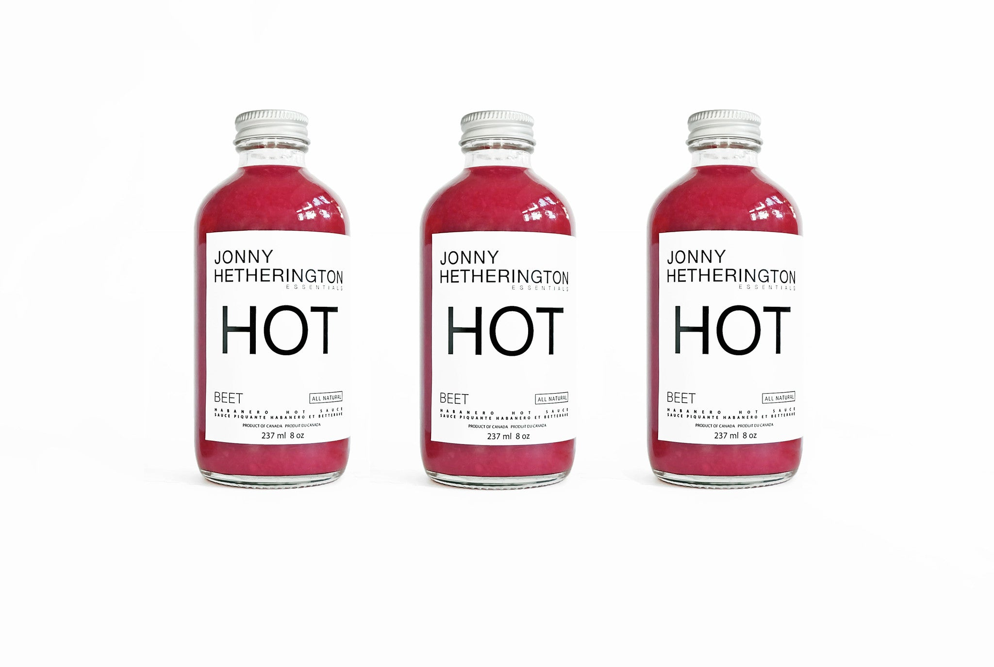 Beet Hot Sauce Trio (Approximately $30.00 USD)