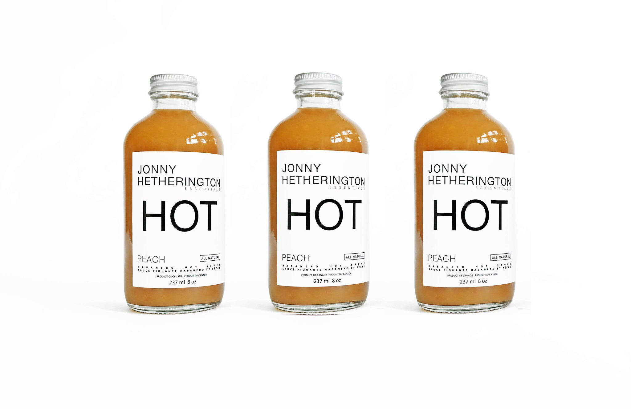 Peach Hot Sauce Trio (Approximately $30.00 USD)
