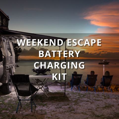 REDARC'S WEEKEND ESCAPE BATTERY CHARGING KIT