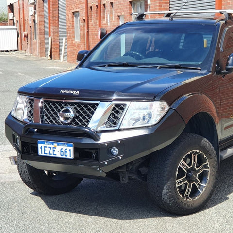 FEB 2021 PRESALE Suits NISSAN NAVARA D40 SPAIN 2010 ON  BLACK POWDER COAT- EXTREME SERIES BULLBAR