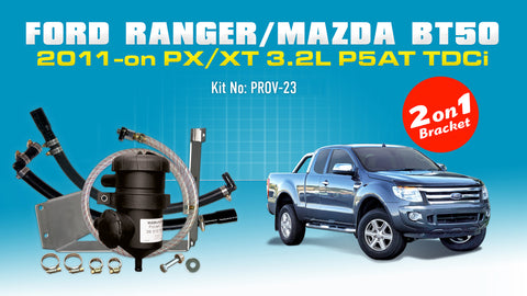 ProVent Catch Can Kit for Ford Ranger PX1 2.2L 3.2L / All Mazda BT50 (2011-on)