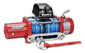 RUNVA 11XP RED 11000LB 24V 4WD ELECTRIC WINCH KIT DYNEEMA ROPE BRAND NEW