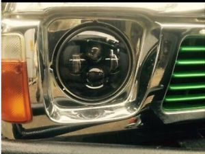 Gq Patrol 7 Inch Led Headlight X 2 New Projector Lens High Output