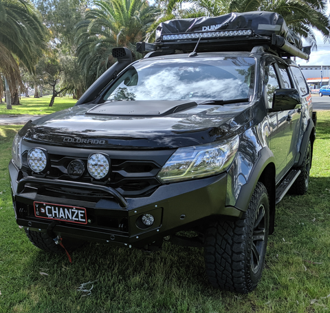 DEC PRESALE COLORADO SPORTSCAT 2017 ON  BLACK POWDER COAT- EXTREME SERIES BULLBAR