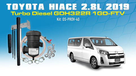 Toyota HiAce 2.8L Turbo Diesel 2019 GDH322R 1GD-FTV - Provent Oil Catch Can Kit OS-PROV-40