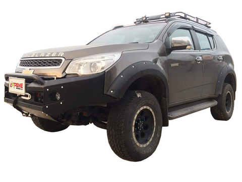 Suits Holden Colorado 7 trailbazer wagon 2012-2016 BLACK POWDER COAT- EXTREME SERIES BULLBAR