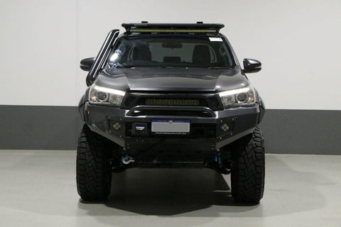Suits TOYOTA HILUX N80 REVO 2015-2018  - BLACK POWDER COAT- EXTREME SERIES BULLBAR