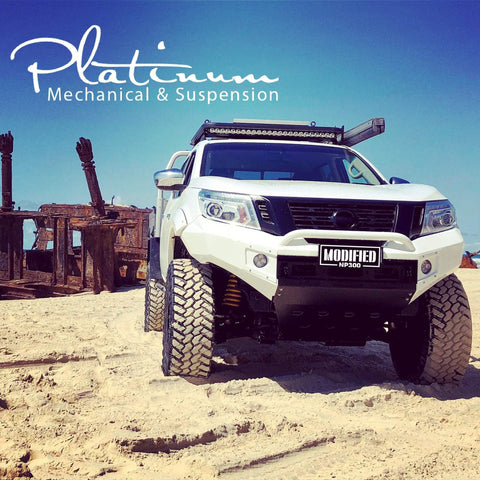 SUITS NISSAN NAVARA NP300  BLACK POWDER COAT- EXTREME SERIES BULLBAR