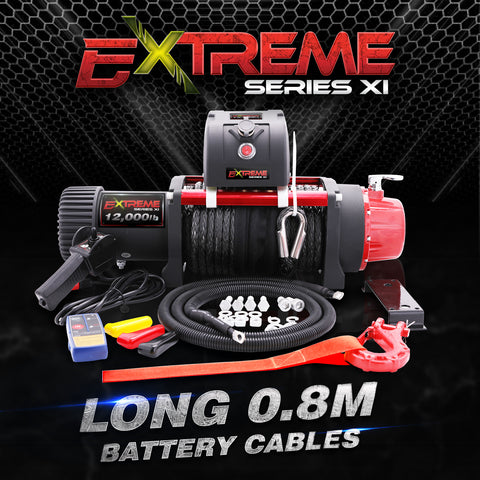 EXTREME SLX WINCH 12000LB 12V with Dyneema Rope 7HP 5.2KW Motor