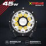 Xtreme-X LED Driving Lights LASER LED Driving Spot Lights 45W Combo 7inch PAIR