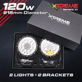 Xtreme-X LED Driving Lights LASER LED Driving Spot Lights 120W Combo PAIR 215mm