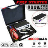Portable Emergency Jump Starter 30000mAh Backup Power Bank Car Charger 12V 800A