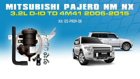 Mitsubishi Pajero NM NX 4M41 3.2L DID 2006-2015 - ProVent Oil Catch Can Vehicle Specific Kit OS-PROV-08