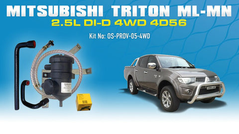 Mitsubishi Triton 2006-15 ML MN 2.5L Challenger 4D56 - ProVent Catch Can Vehicle Specific Kit OS-PROV-05-4WD