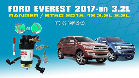 Ford Everest, Ranger - PROV-20 Provent Companion Kit / Fuel Manager Pre-Filter Water Separator Kit OS-20-FMB
