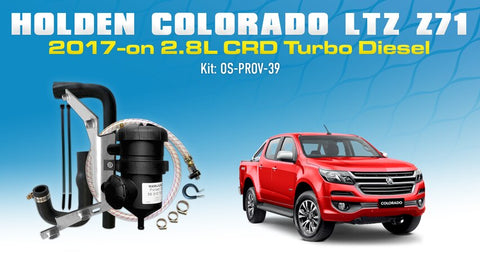 Holden Colorado Trailblazer 2.8L Diesel 2017-on Duramax LTZ Z71 - Provent Oil Catch Can Kit OS-PROV-39