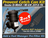 Isuzu D-MAX MU-X 4JJ1-TCX 3.0L TD 4Cyl. 2012-2016 - ProVent Oil Catch Can Dual Bracket Kit OS-PROV-37