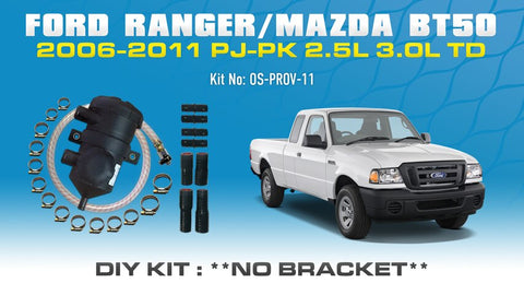 Ford Ranger PJ PK Mazda BT50 2006-2011 2.5L 3.0L ProVent Oil Catch Can DIY Kit OS-PROV-11